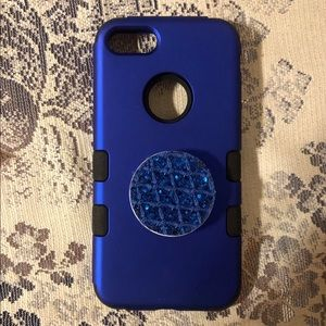 Triple Protective iPhone 8 Cell Case w/pop socket